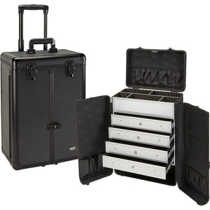 Professional Rolling Makeup Case with Drawers