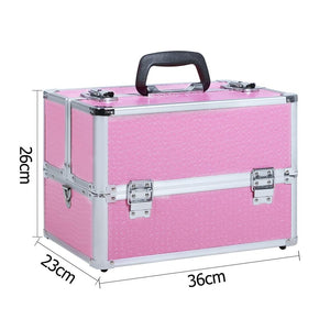 Portable Beauty Makeup Case Pink