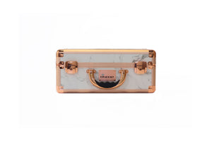 White Marble Rose Makeup Case