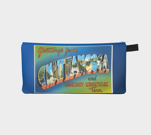 Chattanooga Vintage Post Card Style Pouch Pencil Case