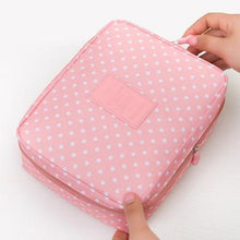 Load image into Gallery viewer, Mihawk Beautician Vanity Necessaire Trip Women Travel Toiletry Wash Bra Underwear Makeup Case Cosmetic Bag Organizer Accessories