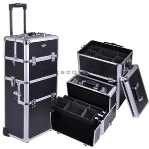Byootique Beauty Makeup Case On Wheels Silver