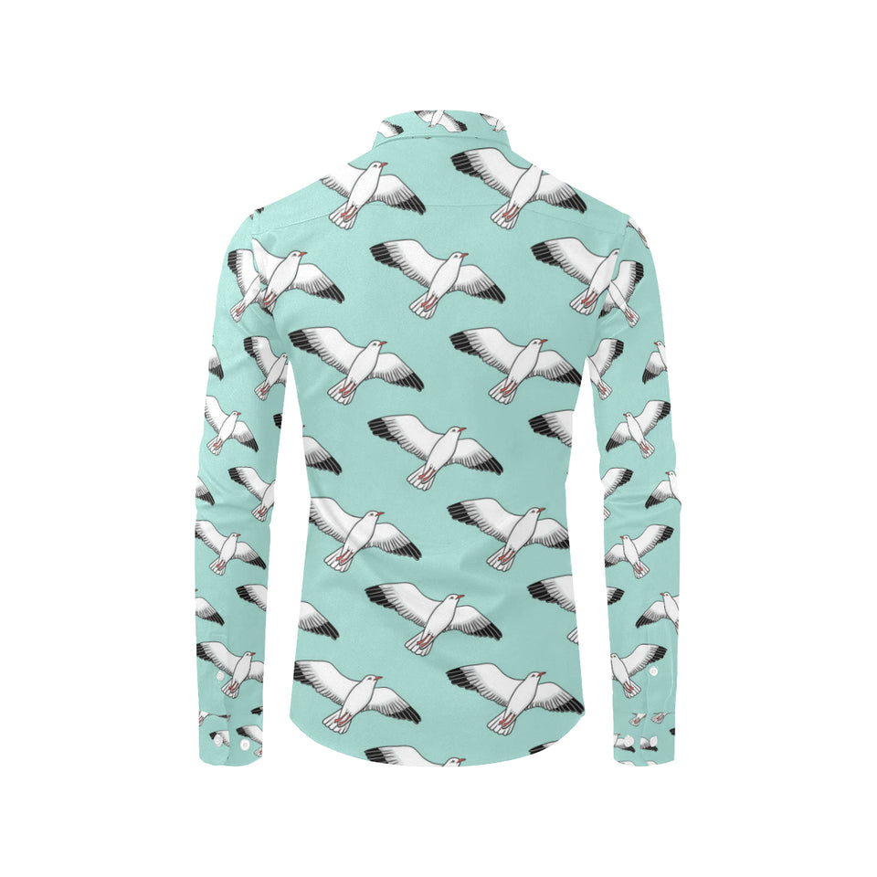 Pigeon Pattern Print Design 02 Long Sleeve Dress Shirt