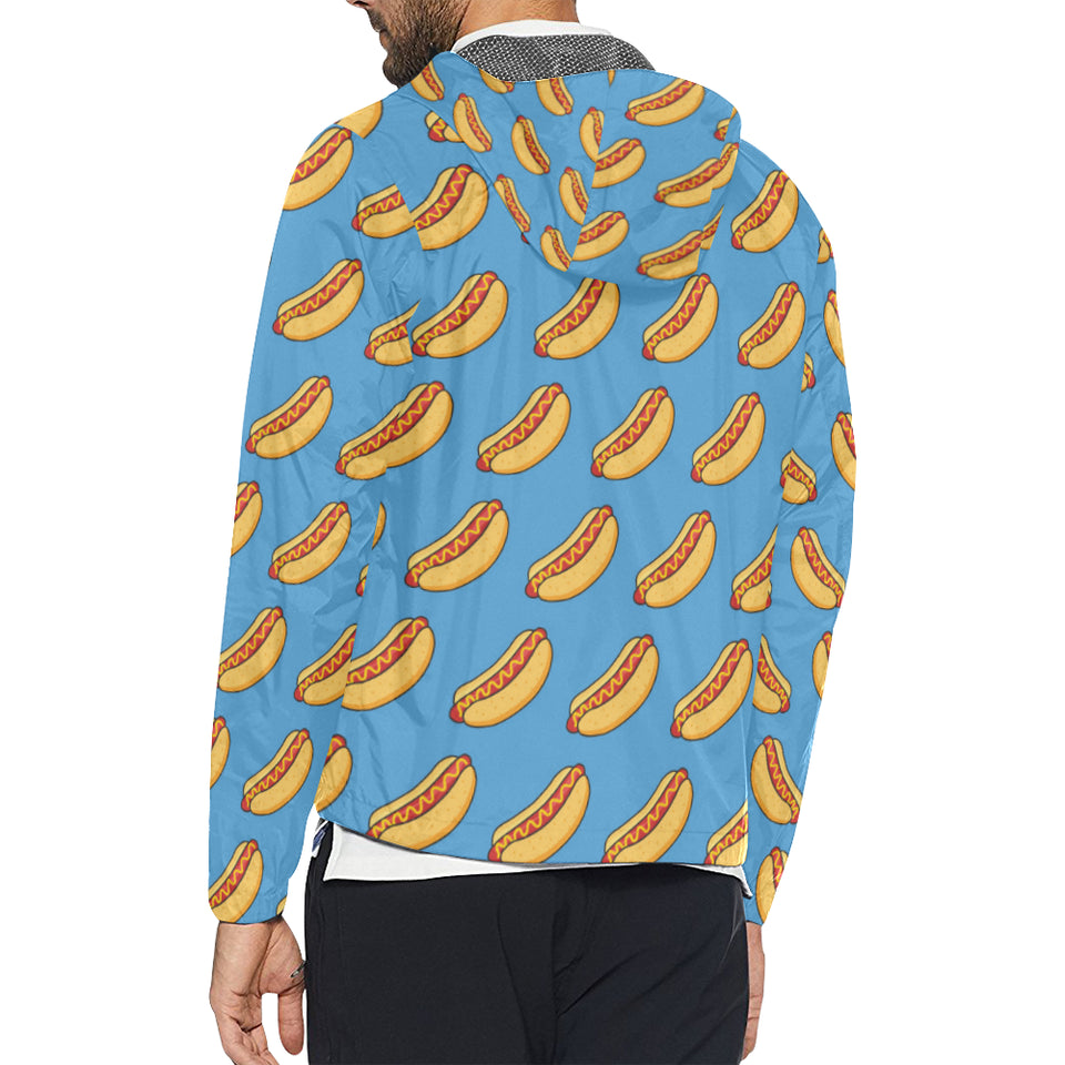 Hot Dog Pattern Print Design 02 Unisex Windbreaker Jacket