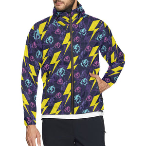 Lightning Thunder Pattern Print Design 01 Unisex Windbreaker Jacket