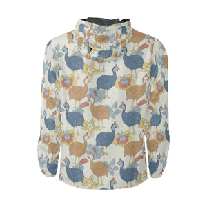 Guinea Fowl Pattern Print Design 01 Unisex Windbreaker Jacket