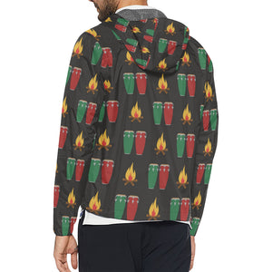 Conga Pattern Print Design 01 Unisex Windbreaker Jacket
