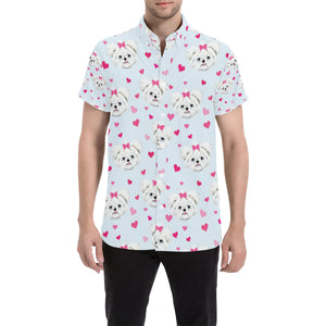 Maltese Pattern Print Design 03 Button Up Shirt