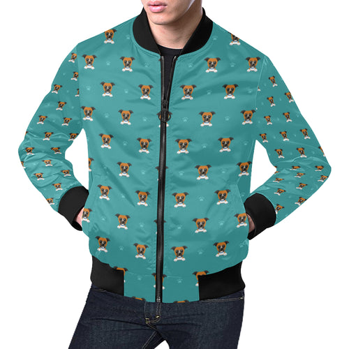 Boxers Pattern Print Design 03 Men Bomber Jacket