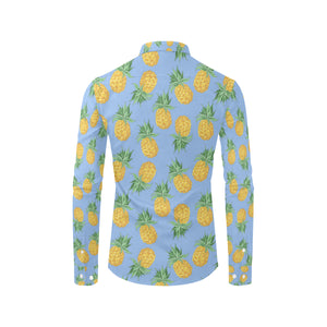 Pineapple Pattern Print Design A04 Long Sleeve Dress Shirt