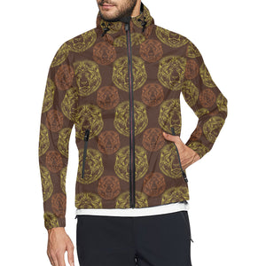 Lion Pattern Print Design 04 Unisex Windbreaker Jacket