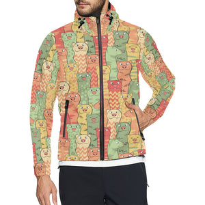 Ferret Pattern Print Design 01 Unisex Windbreaker Jacket