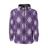 Leo Pattern Print Design 04 Unisex Windbreaker Jacket