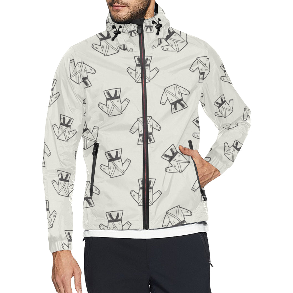Karate Pattern Print Design 01 Unisex Windbreaker Jacket