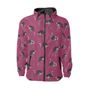 Emu Pattern Print Design 02 Unisex Windbreaker Jacket