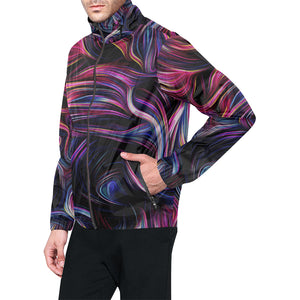 Liquid Pattern Print Design 01 Unisex Windbreaker Jacket
