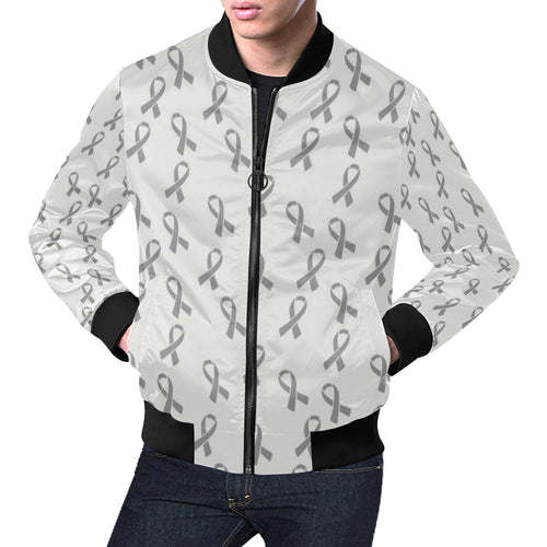 Brain cancer Pattern Print Design 01 Men Bomber Jacket