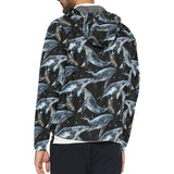 Humpback Whale Pattern Print Design 01 Unisex Windbreaker Jacket
