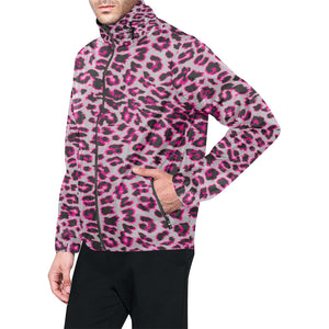 Leopard Pattern Print Design 02 Unisex Windbreaker Jacket