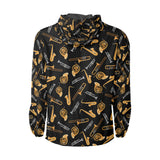 Jazz Pattern Print Design 01 Unisex Windbreaker Jacket