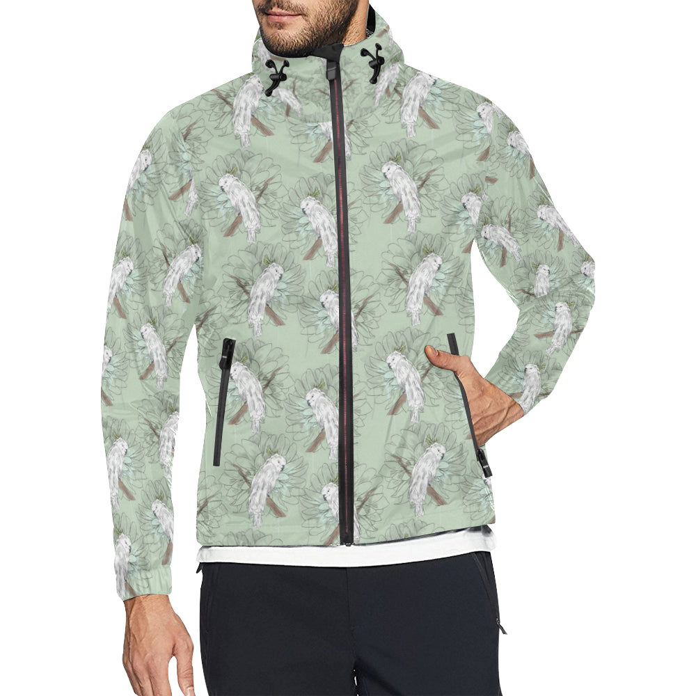 Cockatiel Pattern Print Design 01 Unisex Windbreaker Jacket