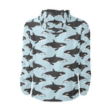 Killer Whale Pattern Print Design 01 Unisex Windbreaker Jacket