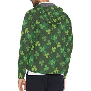 Irish Pattern Print Design 03 Unisex Windbreaker Jacket