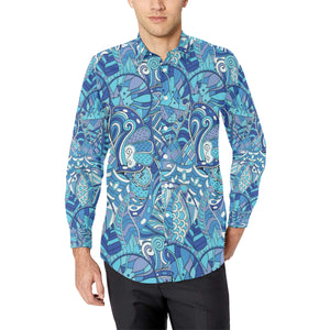 Pucci Pattern Print Design A02 Long Sleeve Dress Shirt