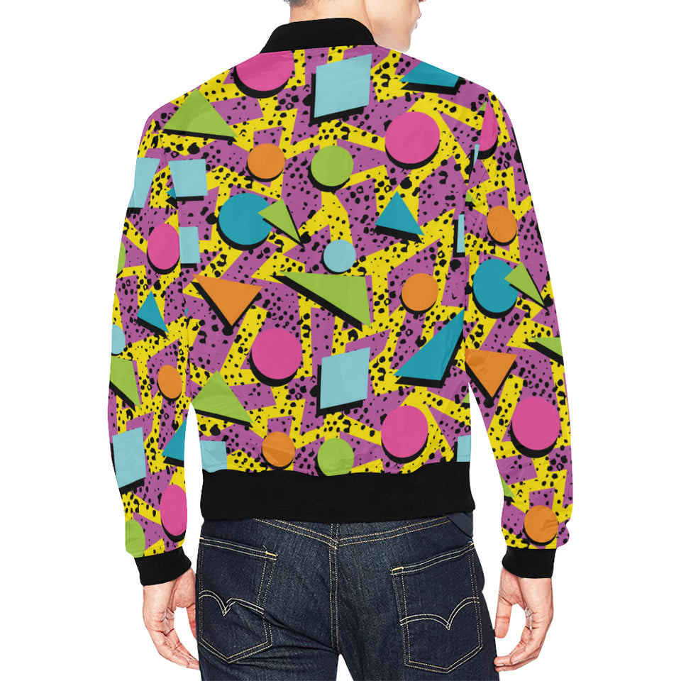 80s Pattern Print Design 1 Men Bomber Jacket
