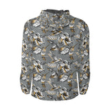 Hummingbird Pattern Print Design 02 Unisex Windbreaker Jacket