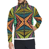 Kaleidoscope Pattern Print Design 05 Unisex Windbreaker Jacket