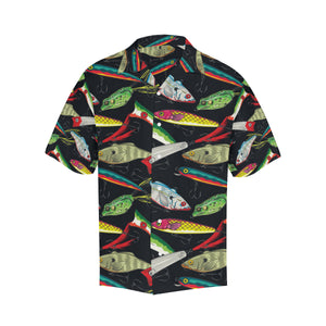 Fishing Bait Print Hawaiian Shirt