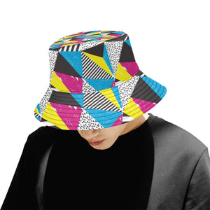 80s Pattern Print Design 2 Men Bucket Hat