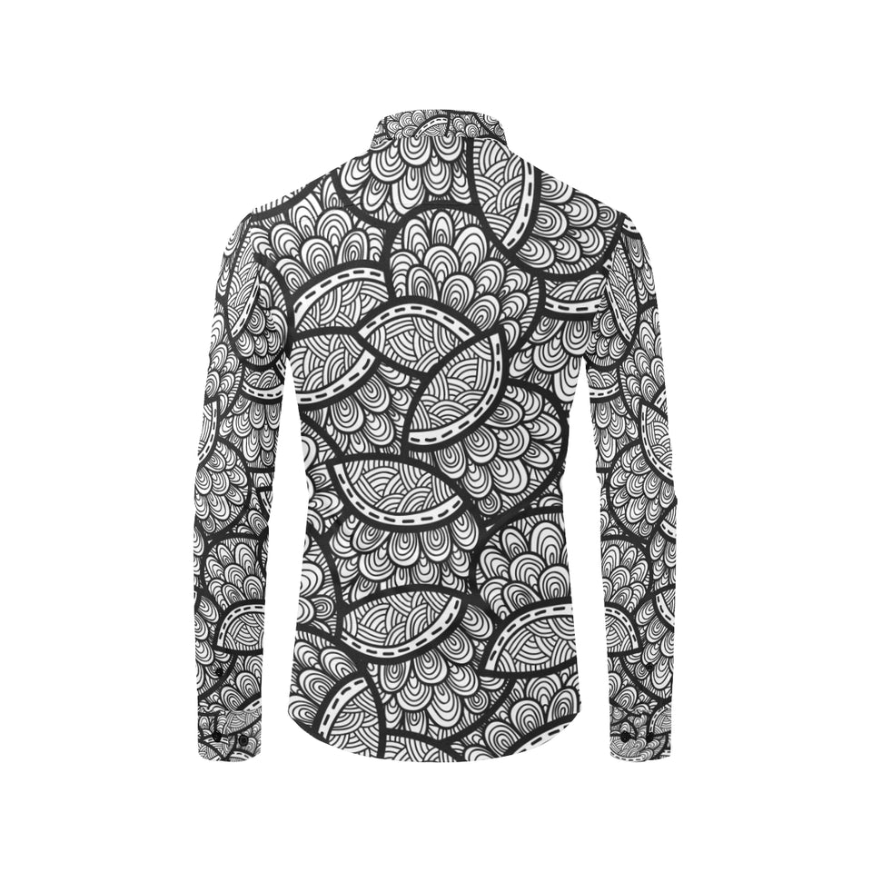 Polynesian Pattern Print Design A01 Long Sleeve Dress Shirt