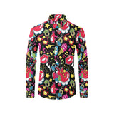 Pop Art Pattern Print Design A04 Long Sleeve Dress Shirt