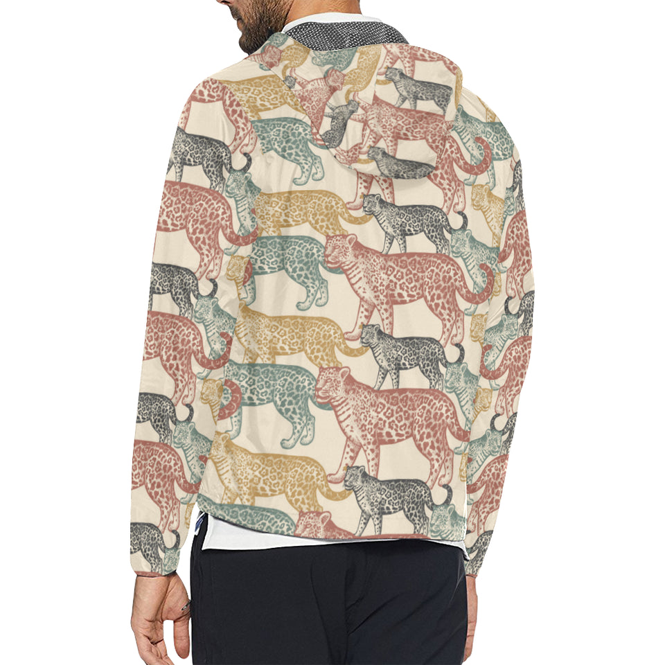 Jaguar Pattern Print Design 01 Unisex Windbreaker Jacket