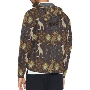Kangaroos Pattern Print Design 03 Unisex Windbreaker Jacket