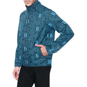 Cryptocurrency Pattern Print Design 04 Unisex Windbreaker Jacket