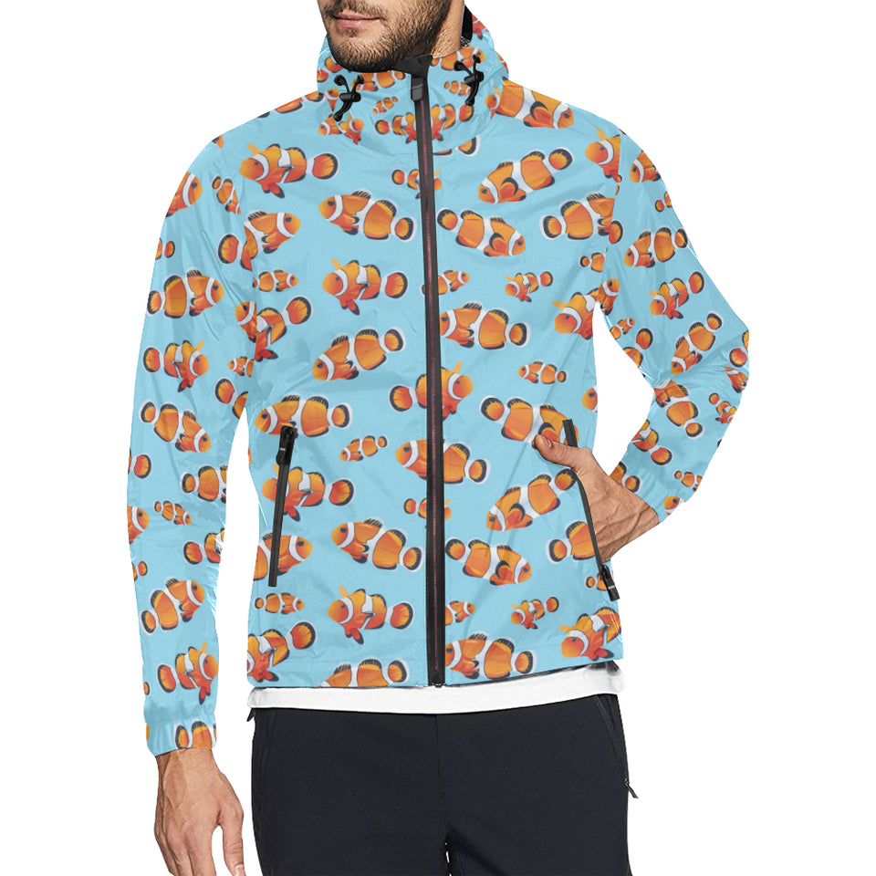 Clownfish Pattern Print Design 01 Unisex Windbreaker Jacket