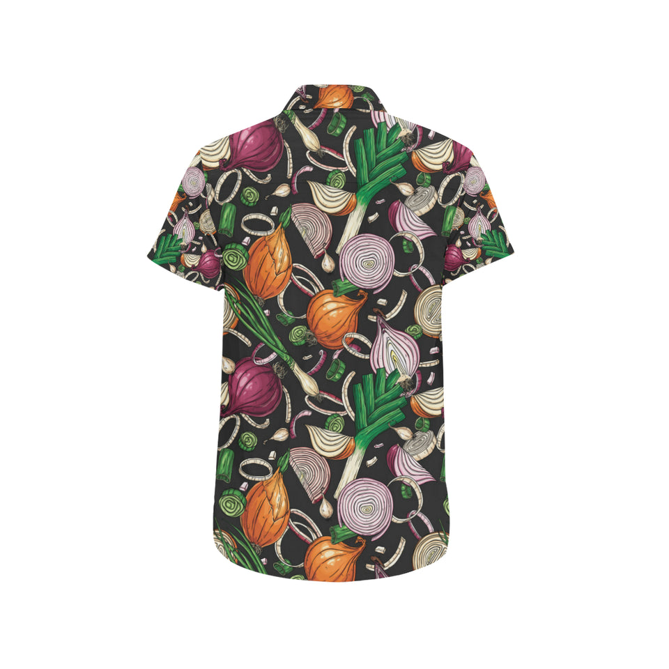 Onion Pattern Print Design A03 Button Up Shirt
