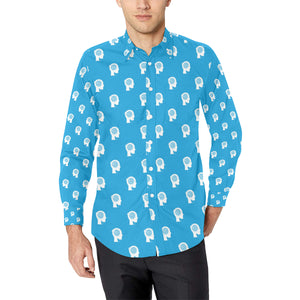 Psychology Pattern Print Design A03 Long Sleeve Dress Shirt