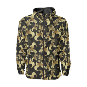 Goldfish Pattern Print Design 02 Unisex Windbreaker Jacket