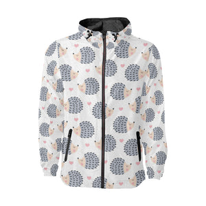 Hedgehog Baby Pattern Print Design 03 Unisex Windbreaker Jacket