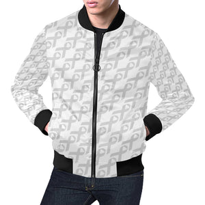 Brain cancer Pattern Print Design 02 Men Bomber Jacket
