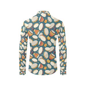 Tambourine Pattern Print Design 01 Long Sleeve Dress Shirt