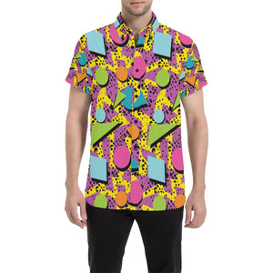80s Pattern Print Design 1 Men's All Over Print Shirt (Model T53)-kunshirts.com