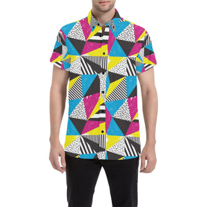 80s Pattern Print Design 2 Men's All Over Print Shirt (Model T53)-kunshirts.com