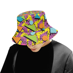 80s Pattern Print Design 1 Men Bucket Hat
