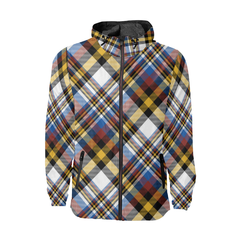 Madras Pattern Print Design 01 Unisex Windbreaker Jacket