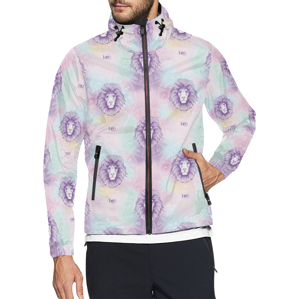 Leo Pattern Print Design 03 Unisex Windbreaker Jacket